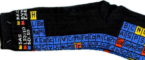 Periodic table socks de gifts for engineers.com