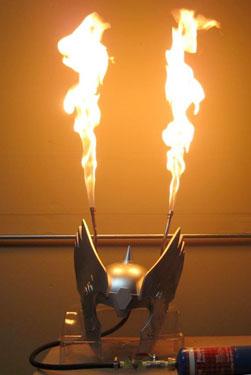 Flaming Thor Helmet - Fire Hat II