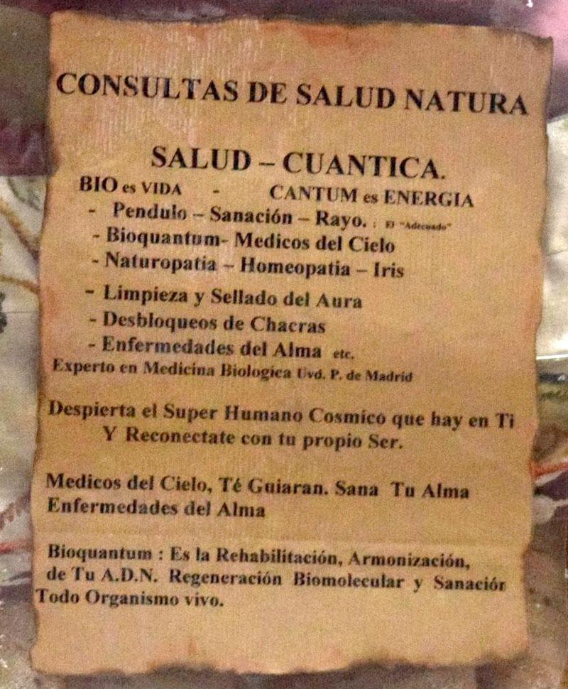 Salud cuántica y otra sarta de sandeces