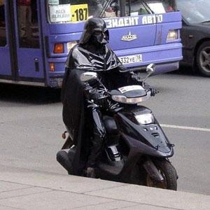 Darth Vader en las calles de la Luna de Russiaendor