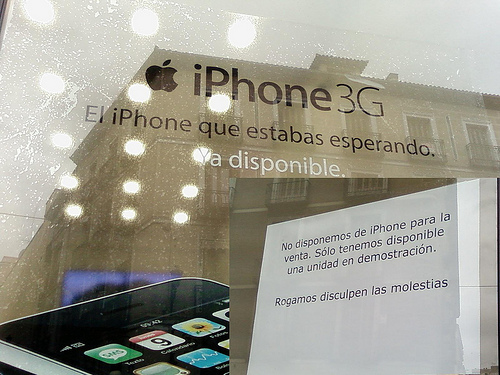 iPhone 3G disponible o no (depende)