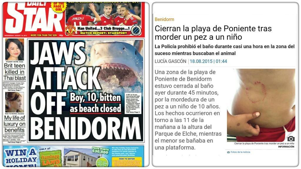 Daily Star vs Noticia / @Kurioso