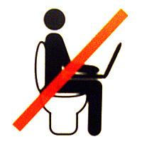 Prohibido-Portatiles WC