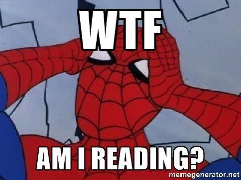 Spider man wtf am i reading