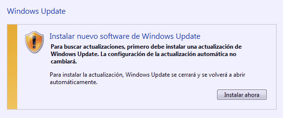 Windows Update of the Update of the…